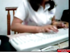 Indian Woman showing her piecing together bf in Office Cam - 38 min