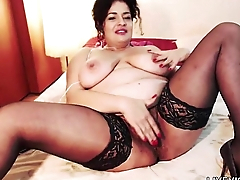 Sultry hairy mom Lola with huge tits