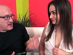Anina Silk'_s young pussy filled with old dick
