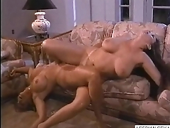 05 Blonde and brunette lesbians suck and rub pussies together on couch-Get CAMS of girls like this o