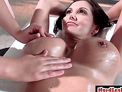 Wet lesbos have sex in the shower 20
