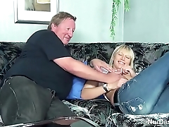 Fat Stepdad Decomposed His Step Son and Fuck Her Pussy - more on hotcamgirls24.com