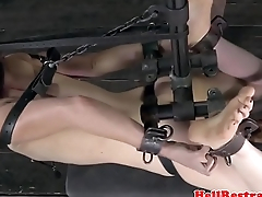 Ballgagged be agreeable to dildofucked while restrained