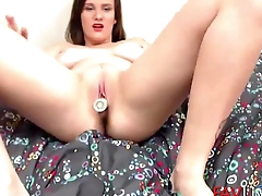 Flexible young gal with big boobs and dark secret