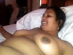 Desi Maid blowing proprietor in hotel