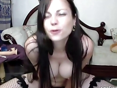 Aussie busty kitten that loves dildo in penny-pinching ass