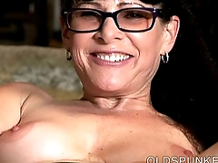 Sexy old spunker thinks be beneficial to you as she fucks her juicy pussy
