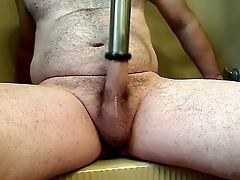 First day using a milking machine on my cock