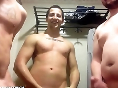Three Military Friends Show Off Naked For Girl On Cam