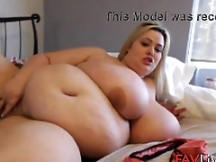 Italian fat Mandy with huge natural tits