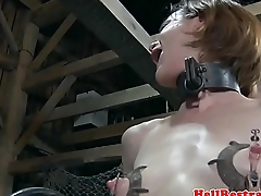 Shaved sub apparatus fucked by cruel dom