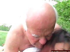 Aged Defy Fucks Granddaughter Outdoors