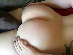 Spanking her 19yr old fat ass
