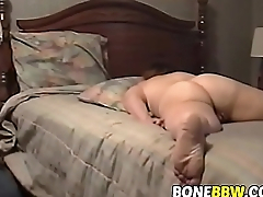 Horny BBW plays with will not hear of cunt