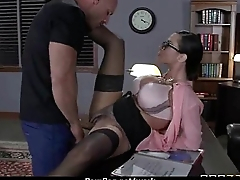 Horny Big-tit MILF fucks employee'_s big-dick in the date 29