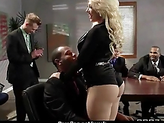 Blistering Big-tit MILF fucks employee'_s big-dick in the office 13