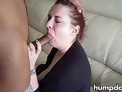 Hot wife sucks big black cock