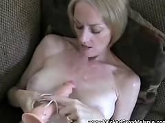 Toying Cum Swallower Old bag