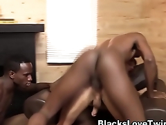 Twink takes black dicks