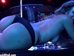 Strip Club with Felicity Drill-hole And Mindi Mink Lesbian Strippers