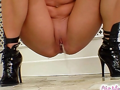 Give Me Pink European blonde fisting and toying her fuck holes