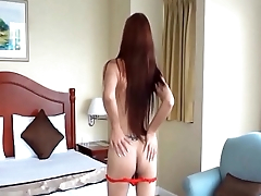 Amateur Asian TS Filipina Get Fucked Bareback