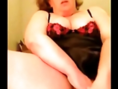 Self taped home solo busty housewife Anna