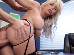 Nina Elle - The boss' Naughty wife gets a load of sex cream served give her cunt