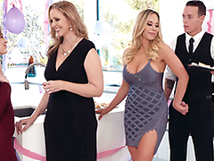 Goddess Olivia Austin seduces Julia Ann's stepson behind her adjacent to