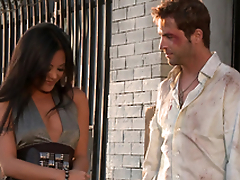 Gorgeous Kaylani Lei acquires her vulva munched and fucked rear end style