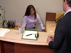 Hot Asian Dame Fucks Her Manager Doggystyle