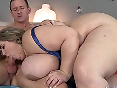Giant boobed fatty Mandy Majestic gets fucked