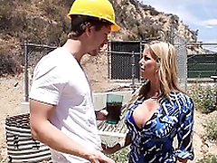 Crazy Squirting Action - Busty Milf Alexis Fawx Fucked to Orgasam in the Kitchen