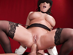 XXX slut Angela White with tapped nipples is penetrated fast in tushy