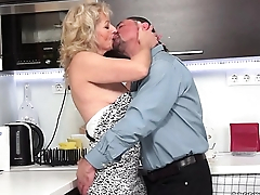 Hairy Granny Fucked In The Kitchenette