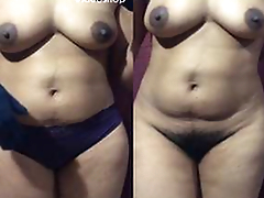 Today Exclusive- Horny Desi Wife League together Her Cloths and Showing Her Nude Body To Fans part 1