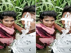 Today Exclusive- Desi Lover Outdoor Romance and Fucked Part 1