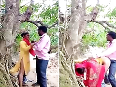 Today Exclusive- Desi Village Lover OutDoor Fucking Part 1