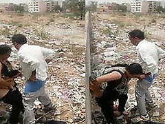 desi guy & aunty caught fucking outdoor