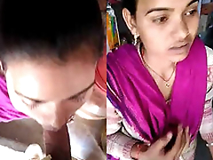 Desi Girl Sucking dick in a open aggregate
