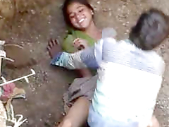 Village Couple Objurgative Fucking In a Abyss Hole