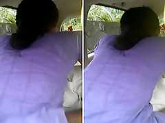 Desi Tamil Girl Ridding Lover Dick On car