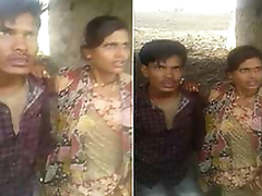 Desi Couple OutDoor Fucking Caught By village People