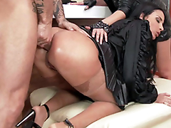 Anissa Kate is anally bonked in front of XXX rock star Amel Annoga
