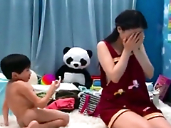 Eastern MILF can't resist XXX booty call and gets banged by stepson