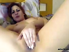 Closeup wet juicy pussy fisting
