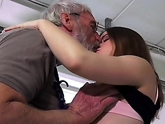Euphoric federate explicit is ass slapped and fucked by her ancient hubby