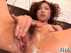 Hairy fat love tunnel oriental in red