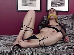 Tied up dominant mistress Toni Rose