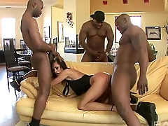 Horny Mature Loves Six Black Cocks